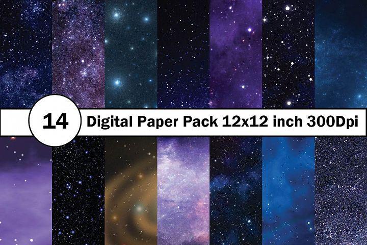 Galaxy Digital Paper 12x12 inch