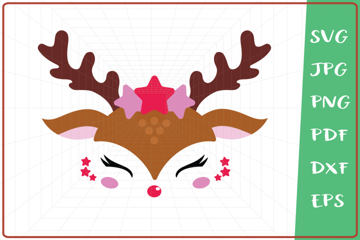 Raindeer svg, Raindeer Girl svg, Raindeer Stars svg