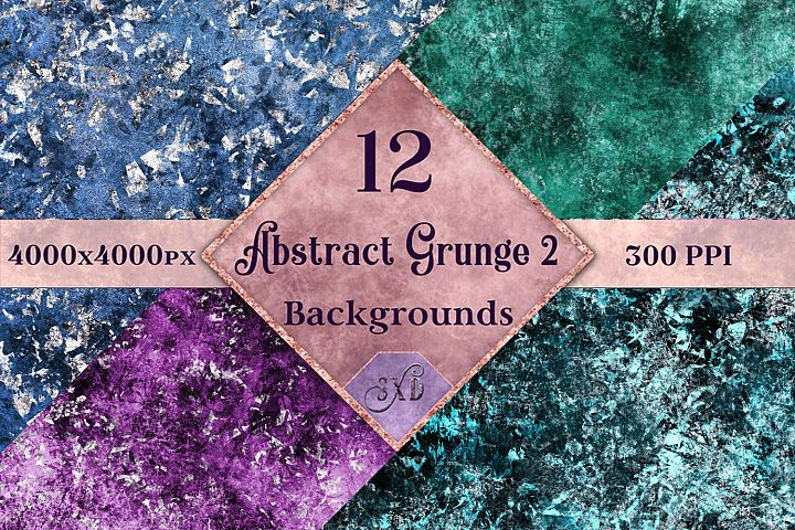 Abstract Grunge 2 Backgrounds - 12 Image Set