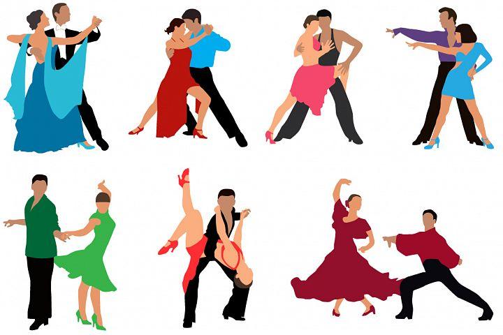 Dancing couples colour