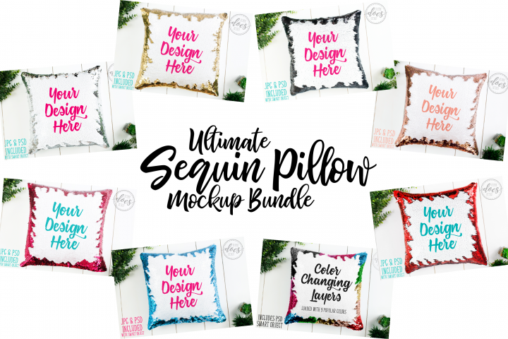 Ultimate Sequin Pillow Mockup Bundle