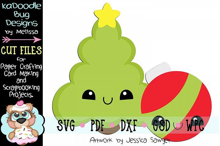 Kawaii Christmas Tree Cut File - SVG PDF DXF GSD WPC
