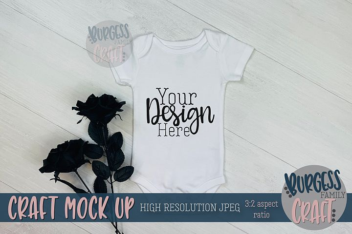 Halloween baby bodysuit Craft mock up | High Res JPG