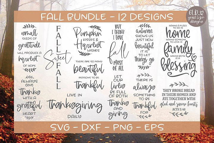 Fall Bundle - 12 Fall SVG Designs