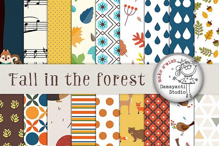 Autumn Digital Paper, Autumn, Thanksgiving, Halloween