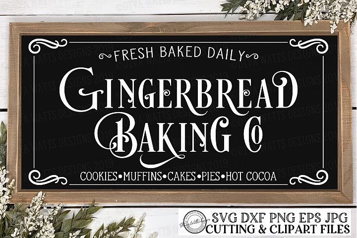 Gingerbread Baking Co - Christmas Bakery Kitchen Cut File