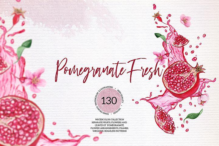 Pomegranate Fresh Watercolor Set