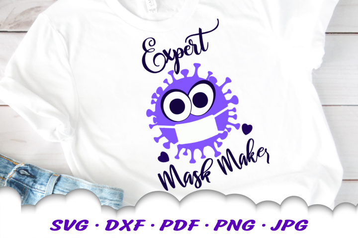Expert Mask Maker Virus SVG DXF Cut Files For Cricut