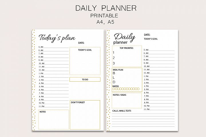 Daily planner, daily stationery, family planner