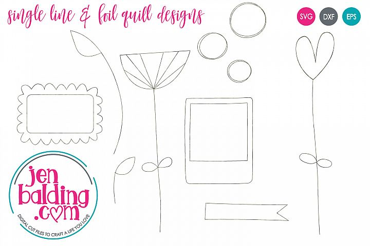 Spring Floral Single Line Doodle Designs