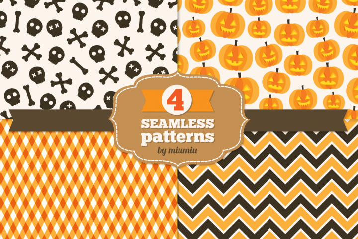 Halloween seamless patterns - set 3