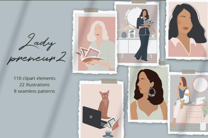 Ladypreneur 2 Illustration Set