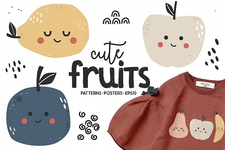 Cute fruits