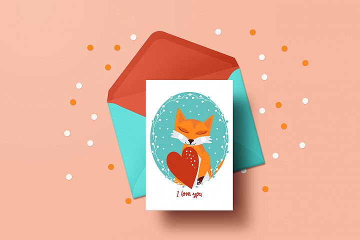 8 Valentines Day cards with animals