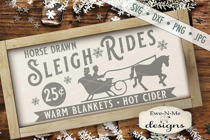 Sleigh Rides Horse Warm Blankets Hot Cider SVG DXF Files