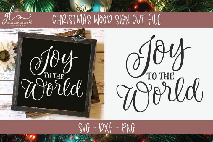 Joy To The World - Christmas SVG Cut File - SVG, DXF & PNG