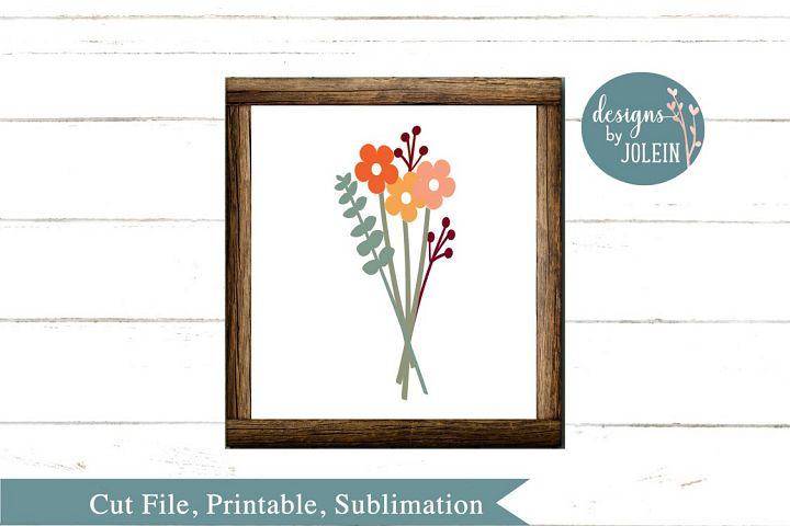 Autumn Floral Bouquet SVG, png, eps, sublimation, dxf, jpeg