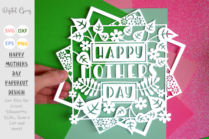 Mothers Day paper cut design SVG / DXF / EPS files