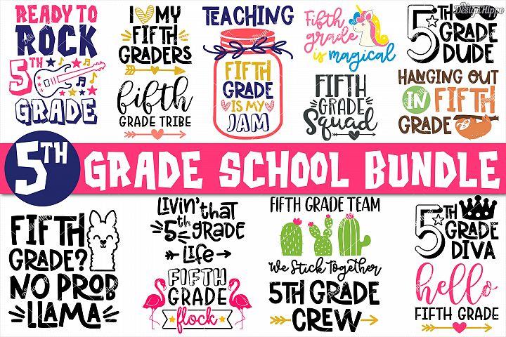 Fifth Grade SVG Bundle - 15 Designs - SVG DXF PNG Cut Files