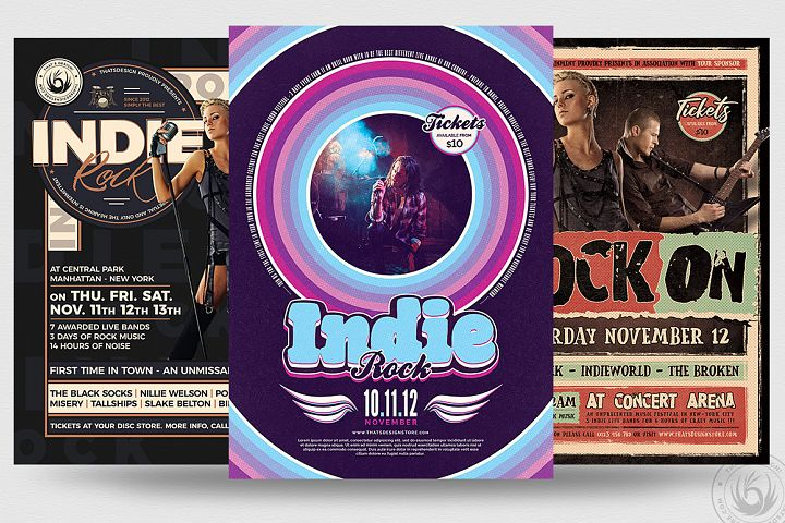 Indie Rock Flyer Bundle