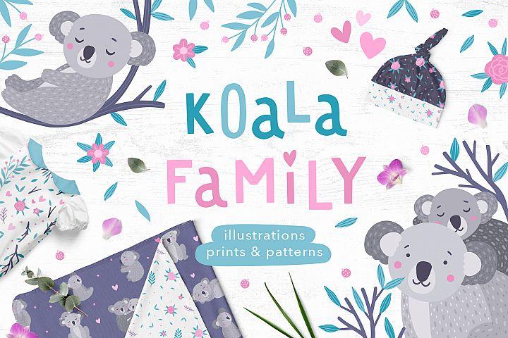 Koala Family Illustrations