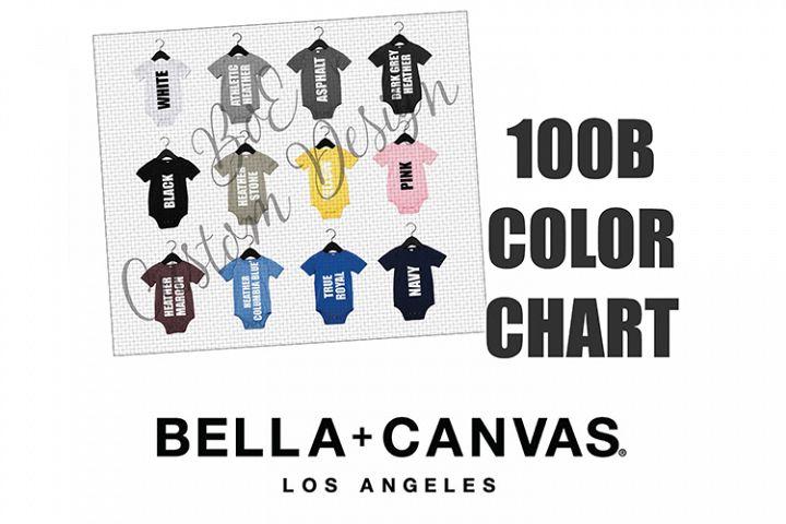 Bella 100B Baby Bodysuit One Piece Color Chart