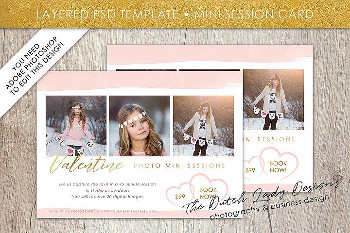 PSD Photo Mini Session Card Template - Design #28