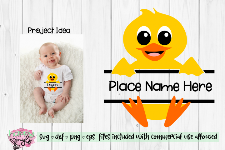 Baby Duck Personalize Design BOY - An Easter SVG