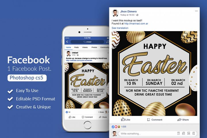 Easter Party Facebook Post Banner