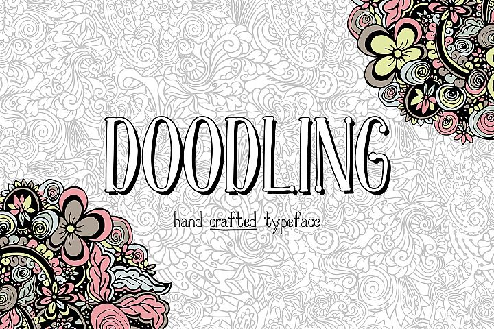 Doodling - hand crafted typeface