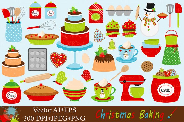 Christmas Baking Clipart - Vector