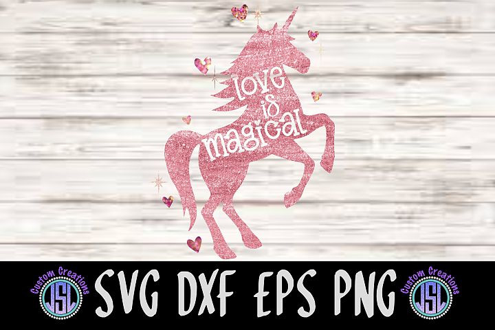 Love is Magical Unicorn | SVG DXF EPS PNG