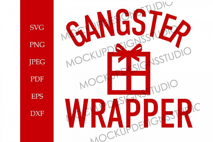 Gangster Wrapper - Funny Christmas SVG