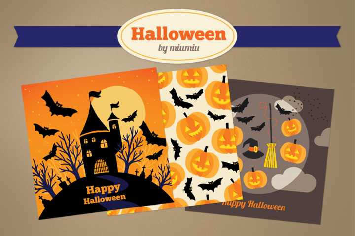Halloween Greeting Cards and Patterns
