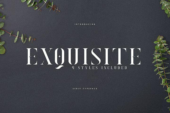 Exquisite - Serif Typeface|4 Styles