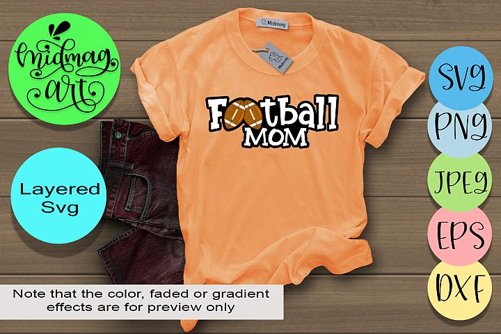 Football mom svg, football svg
