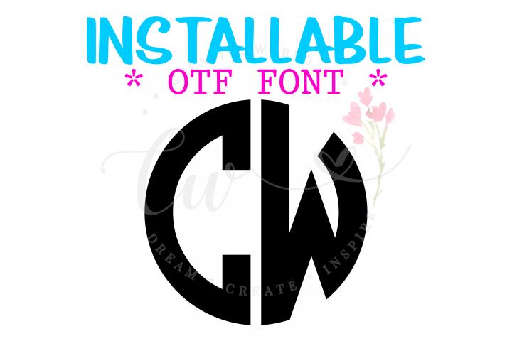 Circle Monogram 2 Letter Font | 2 Letter Circle Monogram