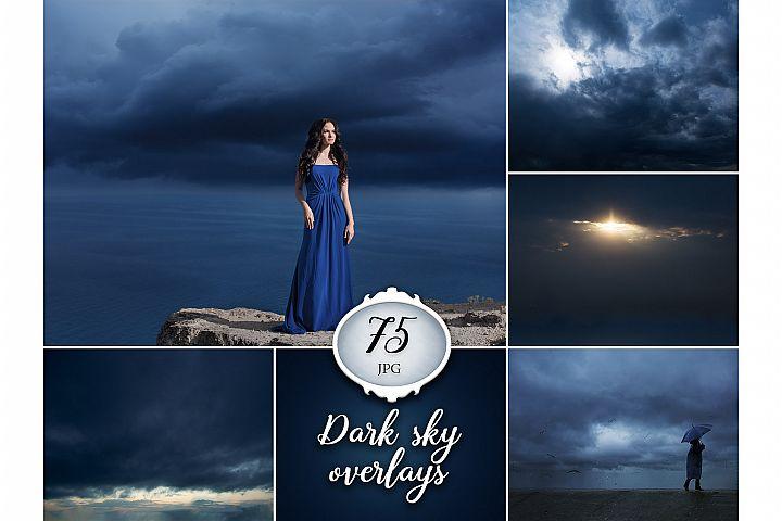 75 Dark Sky Photo Overlays