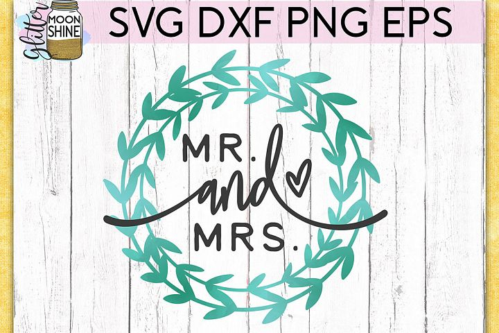 Mr. And Mrs. SVG DXF PNG EPS Cutting Files