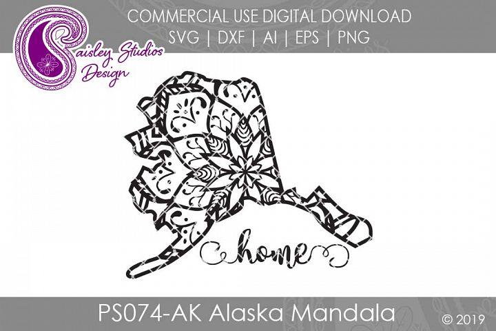 Mandala Alaska Home SVG DXF Ai EPS PNG