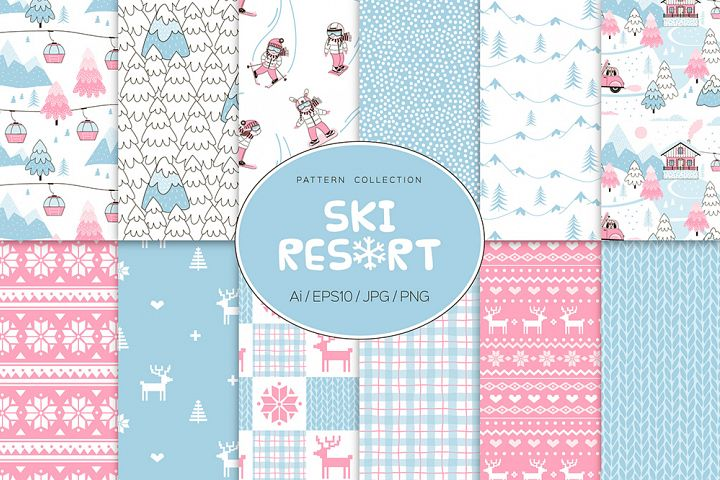 Ski Resort pattern set