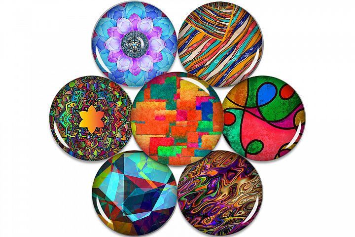 Colorful Digital Collage Sheet,Colors Sheet,Digital Images