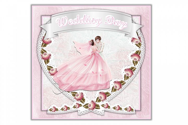 SVG Wedding Card All Components Cuttings Files PNG and SVG