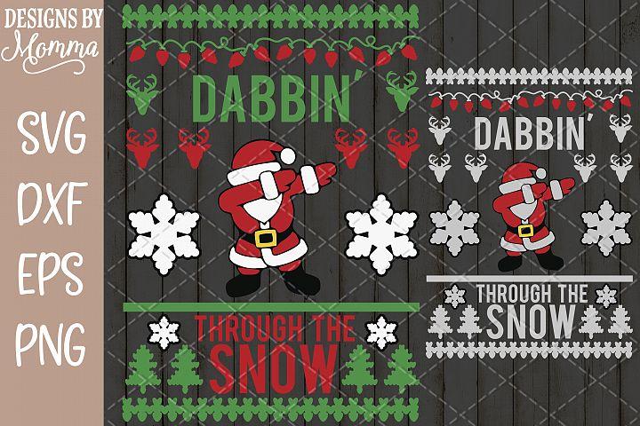 Dabbin through the Snow Santa SVG
