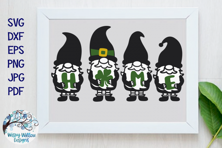 St Patricks Day Gnomes Home Sign SVG | St Patty Gnome SVG