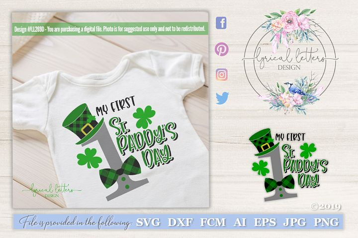 NEW! My First St. Patricks Day SVG DXF LL269D