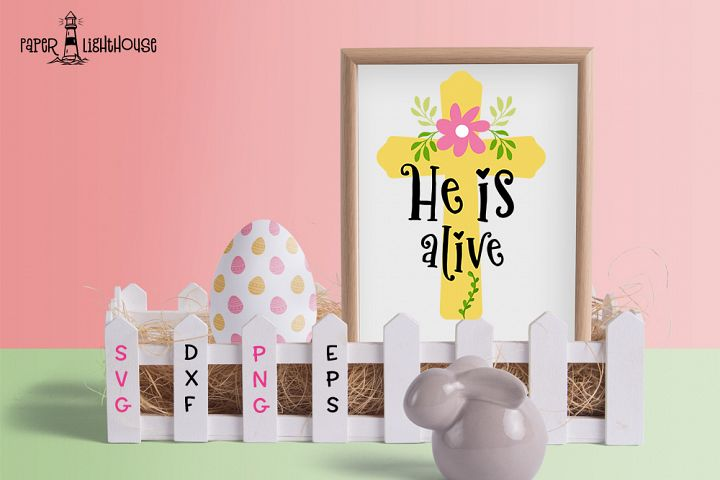He is alive - Easter svg cut file, clipart, printable