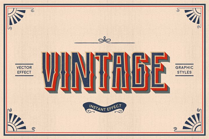 Vintage Text Effects Illustrator