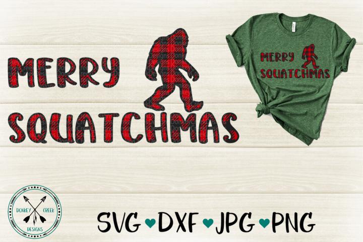 Plaid Sasquatch Merry Squatchmas SVG