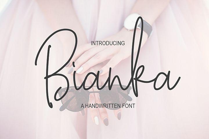 Bianka Script Font
